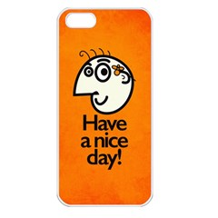 Have A Nice Day Happy Character Apple Iphone 5 Seamless Case (white)