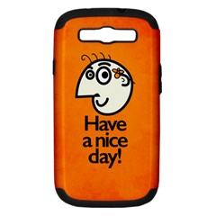 Have A Nice Day Happy Character Samsung Galaxy S Iii Hardshell Case (pc+silicone)
