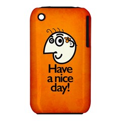 Have A Nice Day Happy Character Apple Iphone 3g/3gs Hardshell Case (pc+silicone)