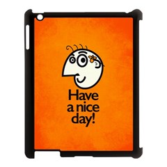 Have A Nice Day Happy Character Apple Ipad 3/4 Case (black)