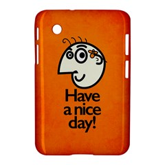 Have A Nice Day Happy Character Samsung Galaxy Tab 2 (7 ) P3100 Hardshell Case