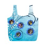 Blue Swirl recycle Bag (M) two sides - Full Print Recycle Bag (M)