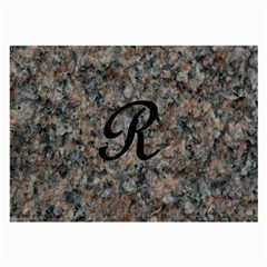 Pink And Black Mica Letter R Glasses Cloth (large, Two Sided)