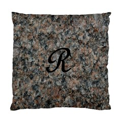 Pink And Black Mica Letter R Cushion Case (two Sided)  by Khoncepts