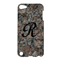 Pink And Black Mica Letter R Apple Ipod Touch 5 Hardshell Case by Khoncepts