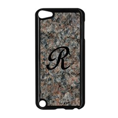 Pink And Black Mica Letter R Apple Ipod Touch 5 Case (black) by Khoncepts