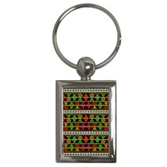 Aztec Style Pattern Key Chain (rectangle) by dflcprints