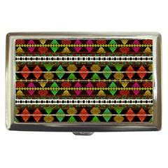 Aztec Style Pattern Cigarette Money Case