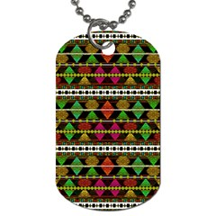 Aztec Style Pattern Dog Tag (two Sided)  by dflcprints