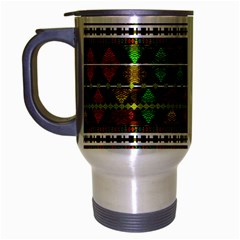 Aztec Style Pattern Travel Mug (silver Gray)