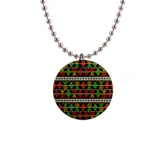 Aztec Style Pattern Button Necklace by dflcprints