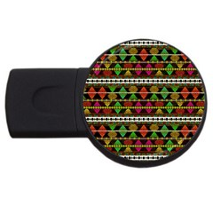 Aztec Style Pattern 4GB USB Flash Drive (Round) by dflcprints