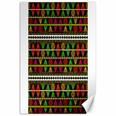 Aztec Style Pattern Canvas 20  X 30  (unframed) by dflcprints