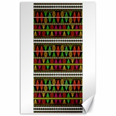 Aztec Style Pattern Canvas 24  X 36  (unframed) by dflcprints