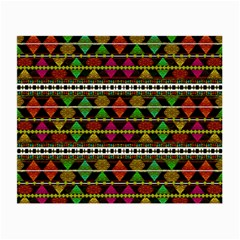 Aztec Style Pattern Glasses Cloth (small, Two Sided) by dflcprints