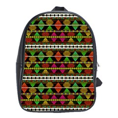Aztec Style Pattern School Bag (large) by dflcprints
