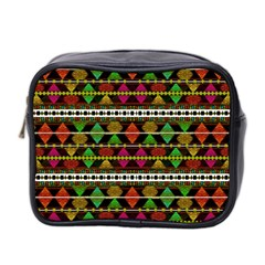 Aztec Style Pattern Mini Travel Toiletry Bag (two Sides) by dflcprints
