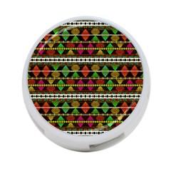 Aztec Style Pattern 4 Port Usb Hub (two Sides)
