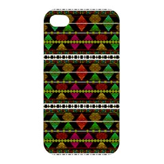Aztec Style Pattern Apple Iphone 4/4s Premium Hardshell Case by dflcprints
