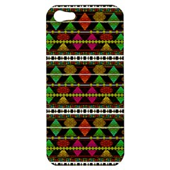 Aztec Style Pattern Apple Iphone 5 Hardshell Case