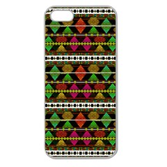 Aztec Style Pattern Apple Seamless Iphone 5 Case (clear) by dflcprints