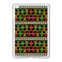 Aztec Style Pattern Apple Ipad Mini Case (white) by dflcprints