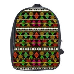 Aztec Style Pattern School Bag (xl)