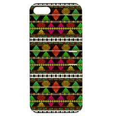 Aztec Style Pattern Apple Iphone 5 Hardshell Case With Stand by dflcprints
