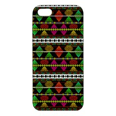 Aztec Style Pattern Apple Iphone 5 Premium Hardshell Case by dflcprints