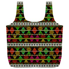 Aztec Style Pattern Reusable Bag (xl) by dflcprints