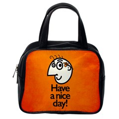Have A Nice Day Happy Character Classic Handbag (one Side)