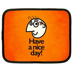 Have A Nice Day Happy Character Netbook Sleeve (xxl)