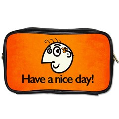 Have A Nice Day Happy Character Travel Toiletry Bag (two Sides)