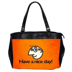 Have A Nice Day Happy Character Oversize Office Handbag (two Sides)