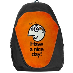 Have A Nice Day Happy Character Backpack Bag