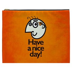 Have A Nice Day Happy Character Cosmetic Bag (xxxl) by CreaturesStore
