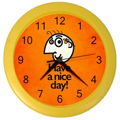 Have A Nice Day Happy Character Wall Clock (color)