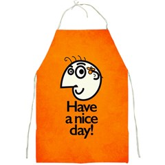 Have A Nice Day Happy Character Apron