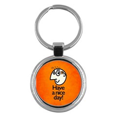 Have A Nice Day Happy Character Key Chain (round)