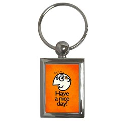 Have A Nice Day Happy Character Key Chain (rectangle)