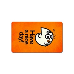Have A Nice Day Happy Character Magnet (name Card)