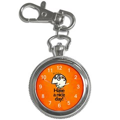 Have A Nice Day Happy Character Key Chain Watch