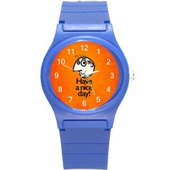 Have A Nice Day Happy Character Plastic Sport Watch (small)