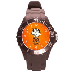Have A Nice Day Happy Character Plastic Sport Watch (large)