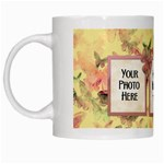 Mug-Butterflies and Flowers - White Mug
