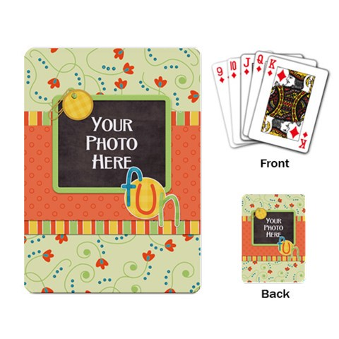 Playing Cards Fanciful Fun 2 By Lisa Minor   Playing Cards Single Design   Btafcwmvqp67   Www Artscow Com Back