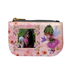 Fairy And Flowers Mini Coin Purse By Kim Blair   Mini Coin Purse   Osfug784w3xm   Www Artscow Com Front