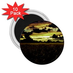Dark Meadow Landscape  2 25  Button Magnet (10 Pack) by dflcprints