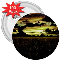 Dark Meadow Landscape  3  Button (100 Pack)