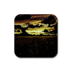 Dark Meadow Landscape  Drink Coaster (square) by dflcprints